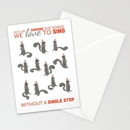 Squirrel Choir Holiday! Stationery Cards