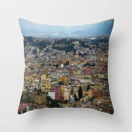 Napoli view Throw Pillow