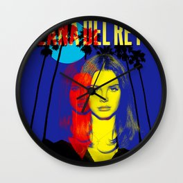 lana del ray sunset tour 2020 mencoba Wall Clock