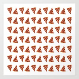 Pizza All Day  Art Print