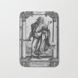 Saint Bartholomew Antique Engraving Bath Mat