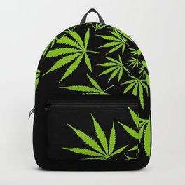Cannabis Leaf Circle (Black) Backpack