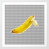 banana Art Prints featuring Banana by Ozghoul