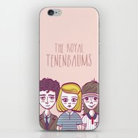 the royal tenenbaums iPhone & iPod Skins featuring Tenenbaums by Pilotinta