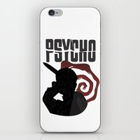 psycho iPhone & iPod Skins featuring Psycho by Vickn