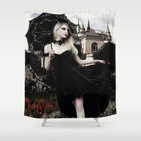 vampire Shower Curtains featuring Vampire by JackGrith