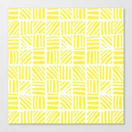Weave Pattern - Yellow Canvas Print
