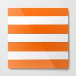 Mariniere marinière Orange Metal Print