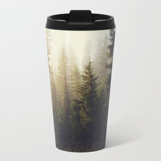 Sunrise Forest Metal Travel Mug