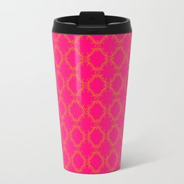 Circles of Love on Pink Travel Mug
