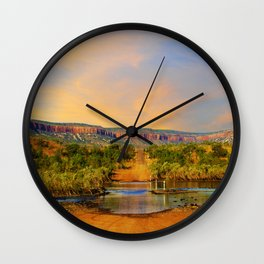 Sunset on the Cockburn Range - The Kimberley Wall Clock