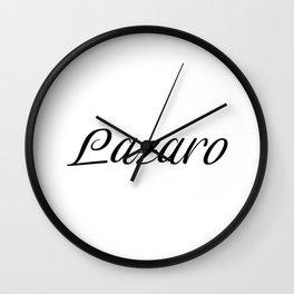 Name Lazaro Wall Clock