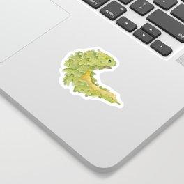 Put your best green forward Sticker