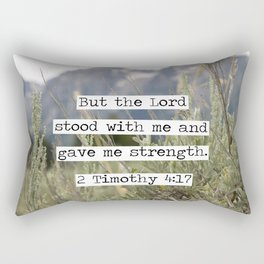 2 Timothy 4:17, Grand Teton Rectangular Pillow