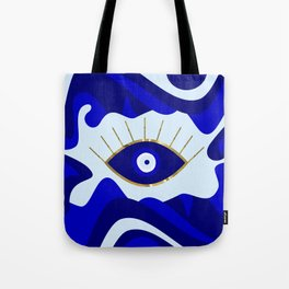 Lava All Seeing Evil Eye Tote Bag
