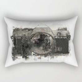 retro camera illustration / painting /drawing  2 Rectangular Pillow