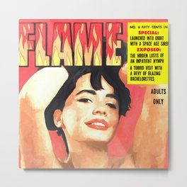 Flame - Vintage Magazines Covers Series Metal Print