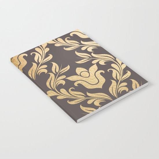 Gold swirls damask #6 Notebook