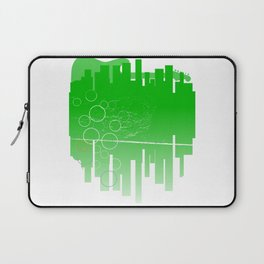 Abstract Green Guitar City Laptop Sleeve