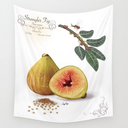 Strangler Fig and Pollinator Wall Tapestry