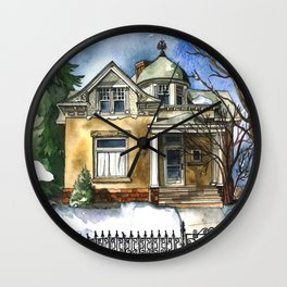 The Little Brown Bungalow Wall Clock