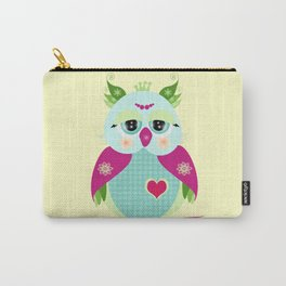 Purple Owl Carry-All Pouch