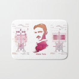 Nikola Tesla - Apparatus for aerial transportation Bath Mat