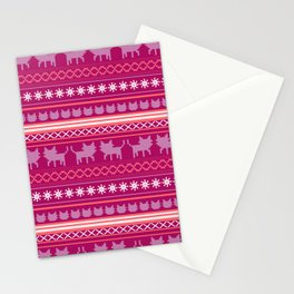 Ugly Christmas Cat Sweater Stationery Cards