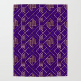 Metallic Gold in Purple Poster