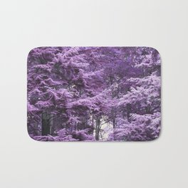 Infrared Trees Forest Bath Mat
