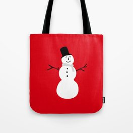 Christmas Snowman-Red Tote Bag