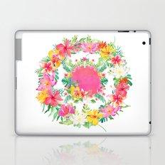 Aloha Tropical Flowers Circle Laptop & iPad Skin