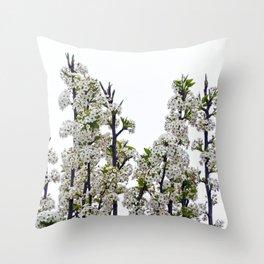 Bradford Pear Blossoms  Throw Pillow