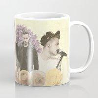 liam payne Mugs featuring Liam Payne + Flowers by Ladsandstuff