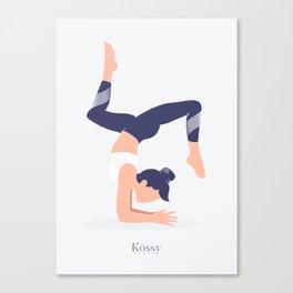 Kossy Yoga blue Canvas Print