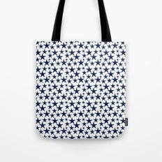Blue stars on white background illustration Tote Bag