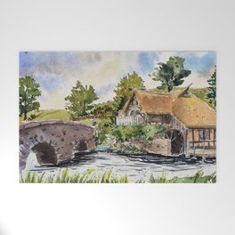 New Zealand, movie set   Watercolor Welcome Mat