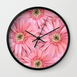 Pink Gerber Pattern | Flowers | Spring | Pop-art Wall Clock