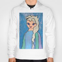 elsa Hoodies featuring Elsa! by Izzy Tan