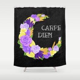 Crescent Bloom | Lavender and lemons  Shower Curtain