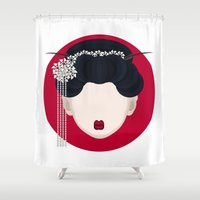 geisha Shower Curtains featuring Geisha by Simoon