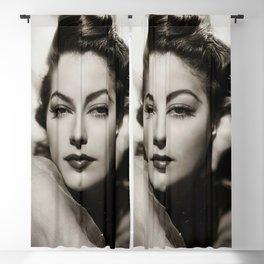 Ava Gardner vintage portrait photo Blackout Curtain