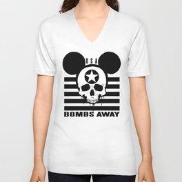 BOMBS AWAY II Unisex V-Neck