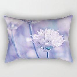 Allium blue macro 038 Rectangular Pillow