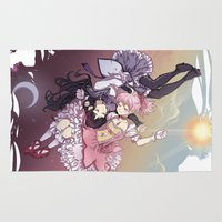 madoka Area & Throw Rugs featuring Troubling Fate by Lettie Bug