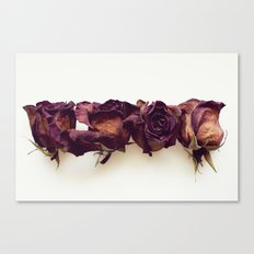 Four Red Roses Canvas Print