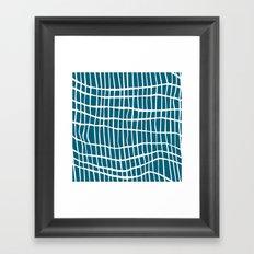 Net White on Blue Framed Art Print