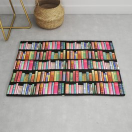 Vintage Book Library for Bibliophile Rug
