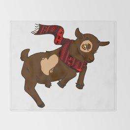 Heart Christmas Sweater Goat Throw Blanket