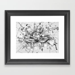 Colorful Climax black&white - Erotic Art Illustration Nude Sex Sexual Love Relationship Mature Framed Art Print